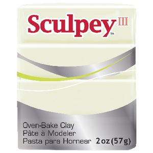 Sculpey III Modelling Clay Glow in the Dark 57g
