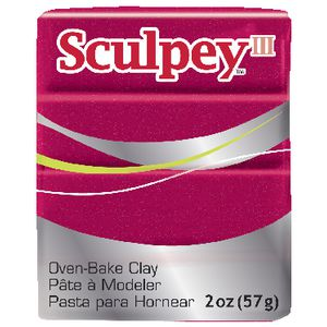 Sculpey III Modelling Clay Deep Red Pearl 57g