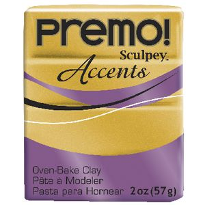 Sculpey Premo Accents Modelling Clay 18K Gold 57g