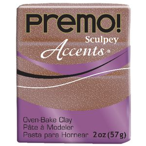 Sculpey Premo Accents Modelling Clay Rose Gold Glitter 57g