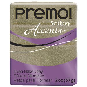 Sculpey Premo Accents Modelling Clay Yellow Gold Glitter 57g