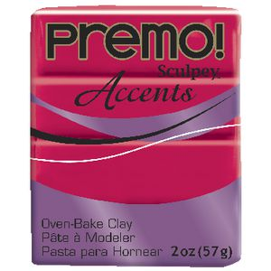 Sculpey Premo Accents Modelling Clay Fluoro Pink 57g