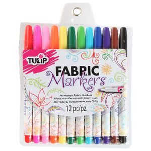 Tulip Fine Tip Fabric Markers 12 Pack