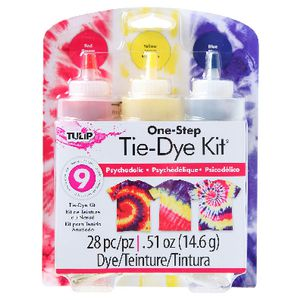 Tulip One Step 3 Colour Tie Dye Kit Psychedelic