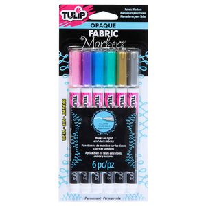 Tulip Opaque Fabric Marker Brights 6 Pack