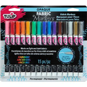 Tulip Opaque Fabric Marker 15 Pack