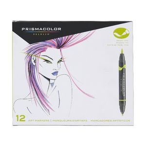 Prismacolor Brush Tip Markers 12 Pack