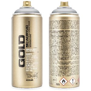 Montana GOLD Spray Paint 400mL Outline Silver