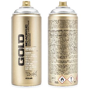 Montana GOLD Spray Paint 400mL Silverchrome