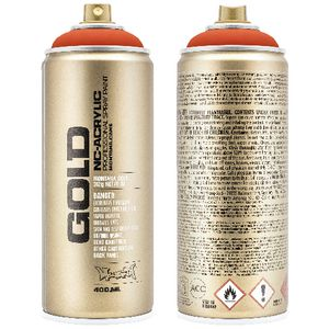 Montana GOLD Spray Paint 400mL Power Orange