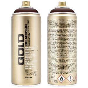Montana GOLD Spray Paint 400mL Black Red
