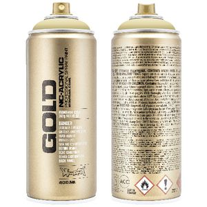 Montana GOLD Spray Paint 400mL Sahara Yellow