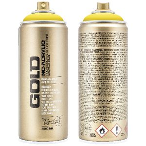 Montana GOLD Spray Paint 400mL Shock Yellow Light