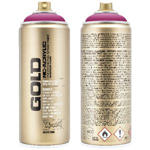 Montana GOLD Spray Paint 400mL Shock Pink