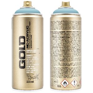Montana GOLD Spray Paint 400mL Shock Blue Light