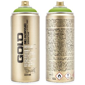 Montana GOLD Spray Paint 400mL Shock Green Light