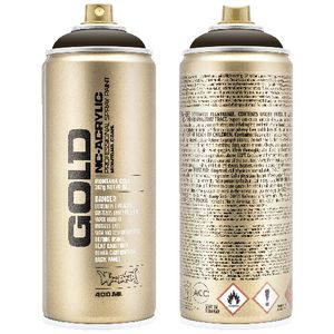 Montana GOLD Spray Paint 400mL Shock Brown Dark