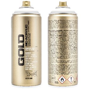 Montana GOLD Spray Paint 400mL Shock White