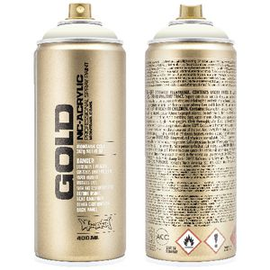 Montana GOLD Spray Paint 400mL Shock White Cream