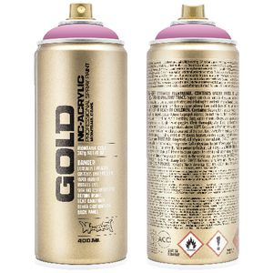 Montana GOLD Spray Paint 400mL Shock Pink Light