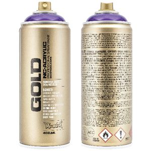 Montana GOLD Spray Paint 400mL Transparent Black Purple