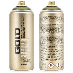 Montana GOLD Spray Paint 400mL Transparent Olive