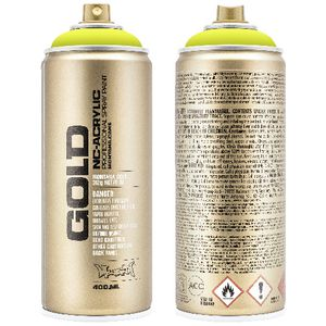 Montana GOLD Spray Paint 400mL Flash Yellow