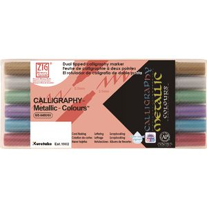 ZIG Calligraphy Markers Metallic 6 Pack