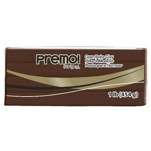 Sculpey Premo Modelling Clay Burnt Umber 454g