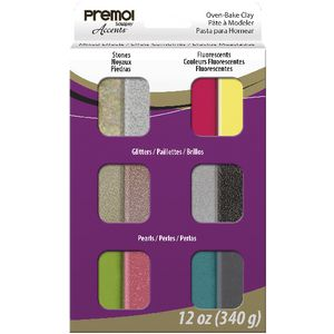 Sculpey Premo! Accents Modelling Clay 12 Pack