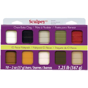 Sculpey III Modelling Clay Naturals 10 Pack