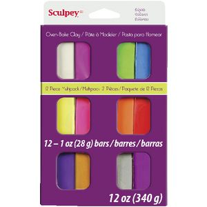 Sculpey III Modelling Clay Brights 12 Pack