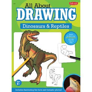 Walter Foster Jr All About Drawing Book Dinosaurs/Reptiles