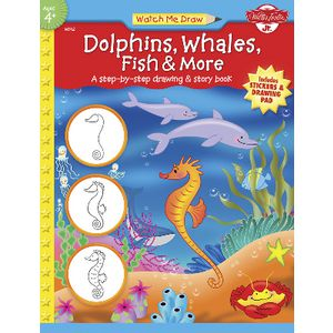 Walter Foster Jr Watch Me Draw Book Dolphins