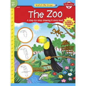 Walter Foster Jr Watch Me Draw Book Zoo