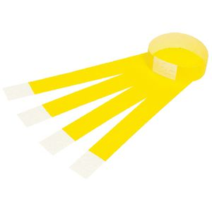 Rexel Fluoro Wrist Bands Yellow 100 Pack