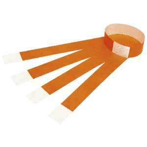 Rexel Fluoro Wrist Bands Orange 100 Pack