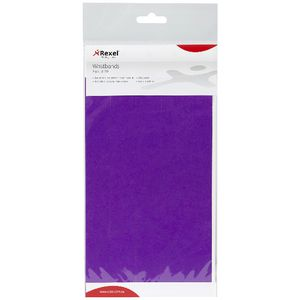 Rexel Wrist Bands Purple 10 Pack