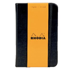 Rhodia Webbie A6 Lined Notebook Black