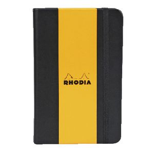 Rhodia Webbie A6 Plain Notebook Black