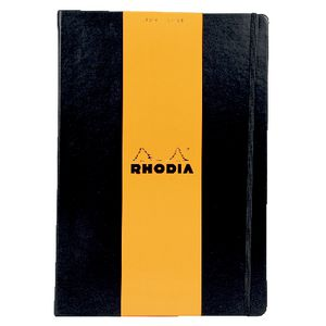 Rhodia Webbie A4 Lined Notebook Black