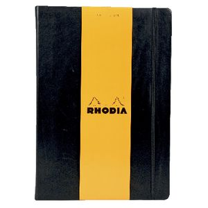 Rhodia Webbie A4 Plain Notebook Black