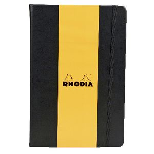 Rhodia Webbie A5 Lined Notebook Black