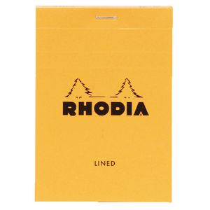 Rhodia No. 12 85 x 120mm Lined Pad Orange