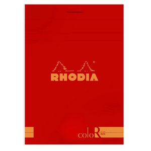 Rhodia No. 12 Premium Lined Notepad Poppy Red