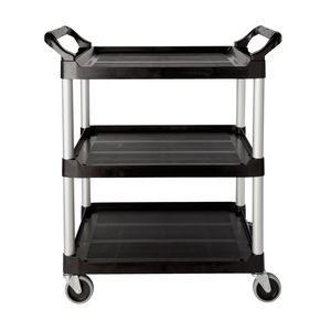 Rubbermaid Service Utility Cart 3 Shelf 90kg Capacity