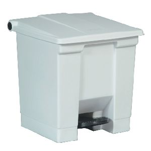 Rubbermaid Step-On Bin 30L White