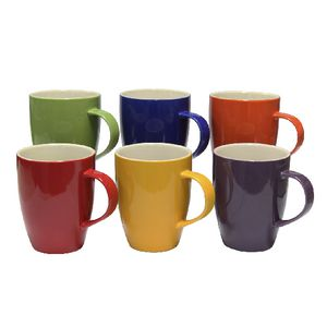 Connoisseur a la carte Assorted Coloured Mugs 370mL 6 Pack