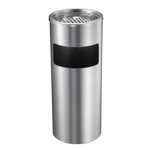 Compass 10L Stainless Steel Lobby Bin with Ashtray