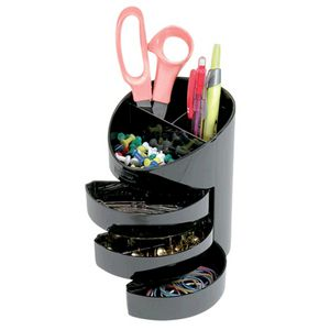 Eldon 3 Drawer Stationery Holder Black